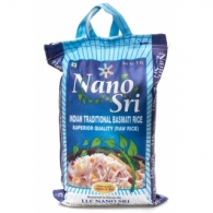 Рис «Нано Шри Басмати», необработанный (в синем мешке) (Nano Sri Indian Basmati Raw Rice) 1 кг
